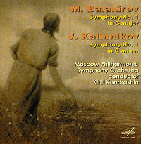 Обложка альбома «Mili Balakirev: Symphony No. 1 In C Major. Vasili Kalinnikov: Symphony No. 1 In G Minor» (Mili Balakirev, Vasili Kalinnikov, 2005)