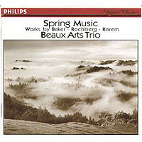 Обложка альбома «Spring Music. Baker. Rochberg. Rorem. Beaux Arts Trio» (Beaux Arts Trio, 2006)