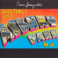 Обложка альбома «Greetings From Asbury Park NJ» (Bruce Springsteen, 1973)