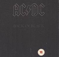 Обложка альбома «Back In Black» (AC/DC, 2004)