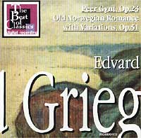 Обложка альбома «Edvard Grieg. Peer Gyunt, Op.23. Old Norwegian Romance with Variations, Op.51» (Edvard Griegs, 2001)
