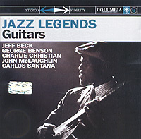 Обложка альбома «Jazz Legends. Guitars» (Jeff Beck, George Benson, Charlie Christian, John McLaughlin, Carlos Santana, 2004)