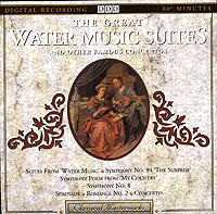 Обложка альбома «The Great Water Music Suite And Other Famous Concertos» (1992)