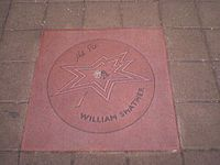 William Shatner's star on the Canadian Walk of Fame