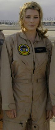 Jessica Biel on board Naval Air Station North Island, San Diego Bay, 17 июля